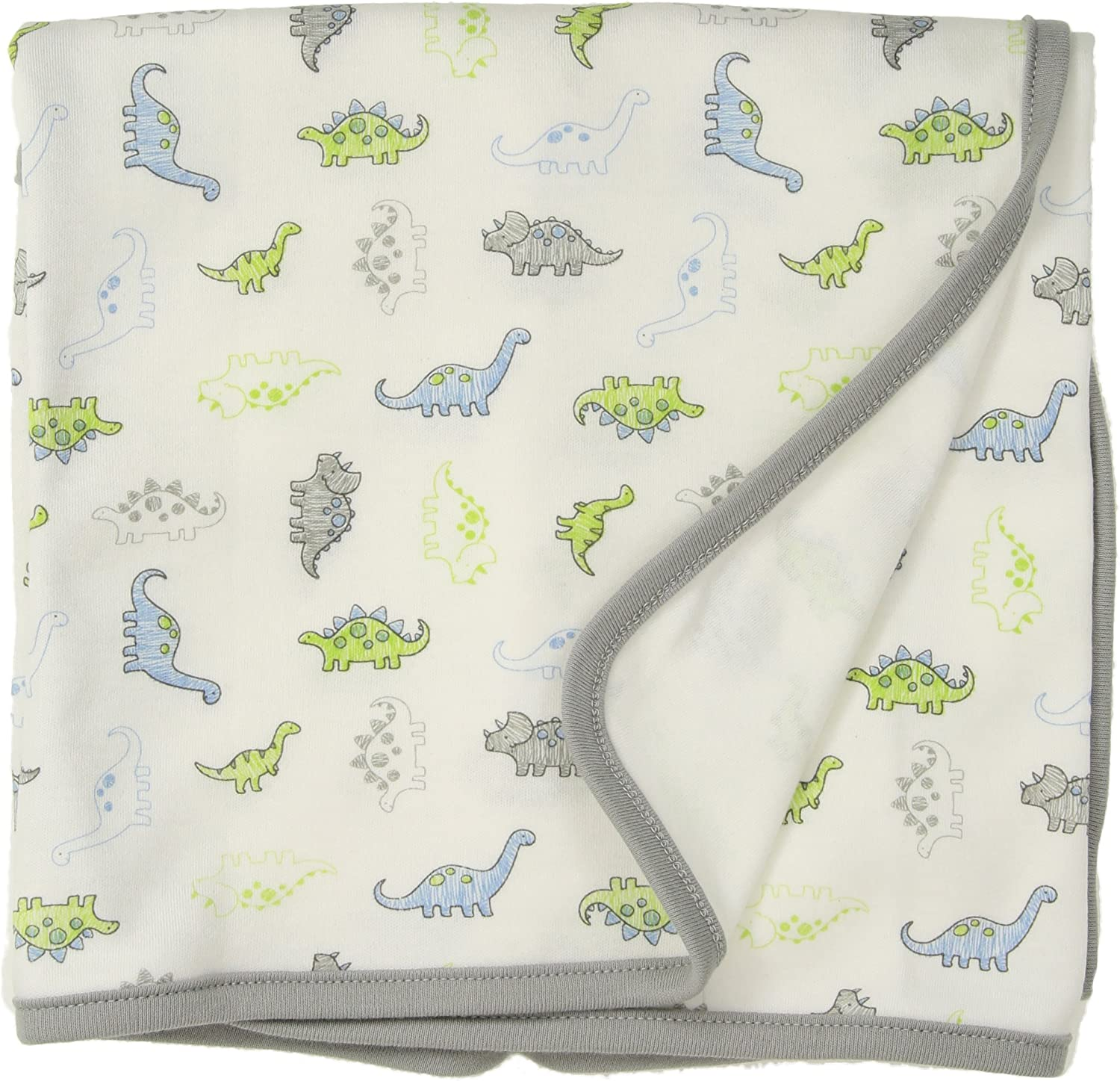 Little Me Baby Boy's Blanket Accessory, white print, One Size