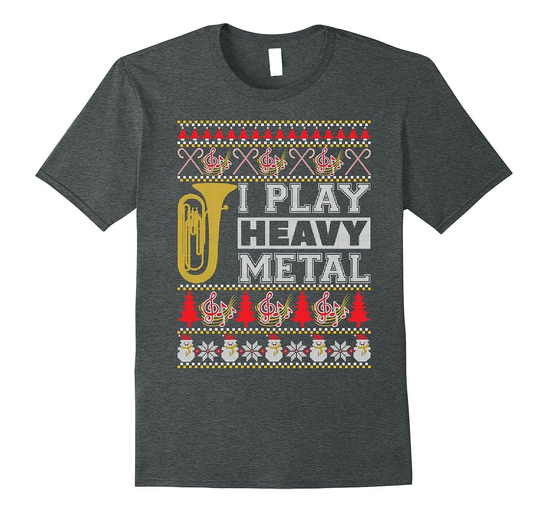 tuba i play heavy metal ugly christmas sweater t shirt anz - Metal Christmas Sweaters