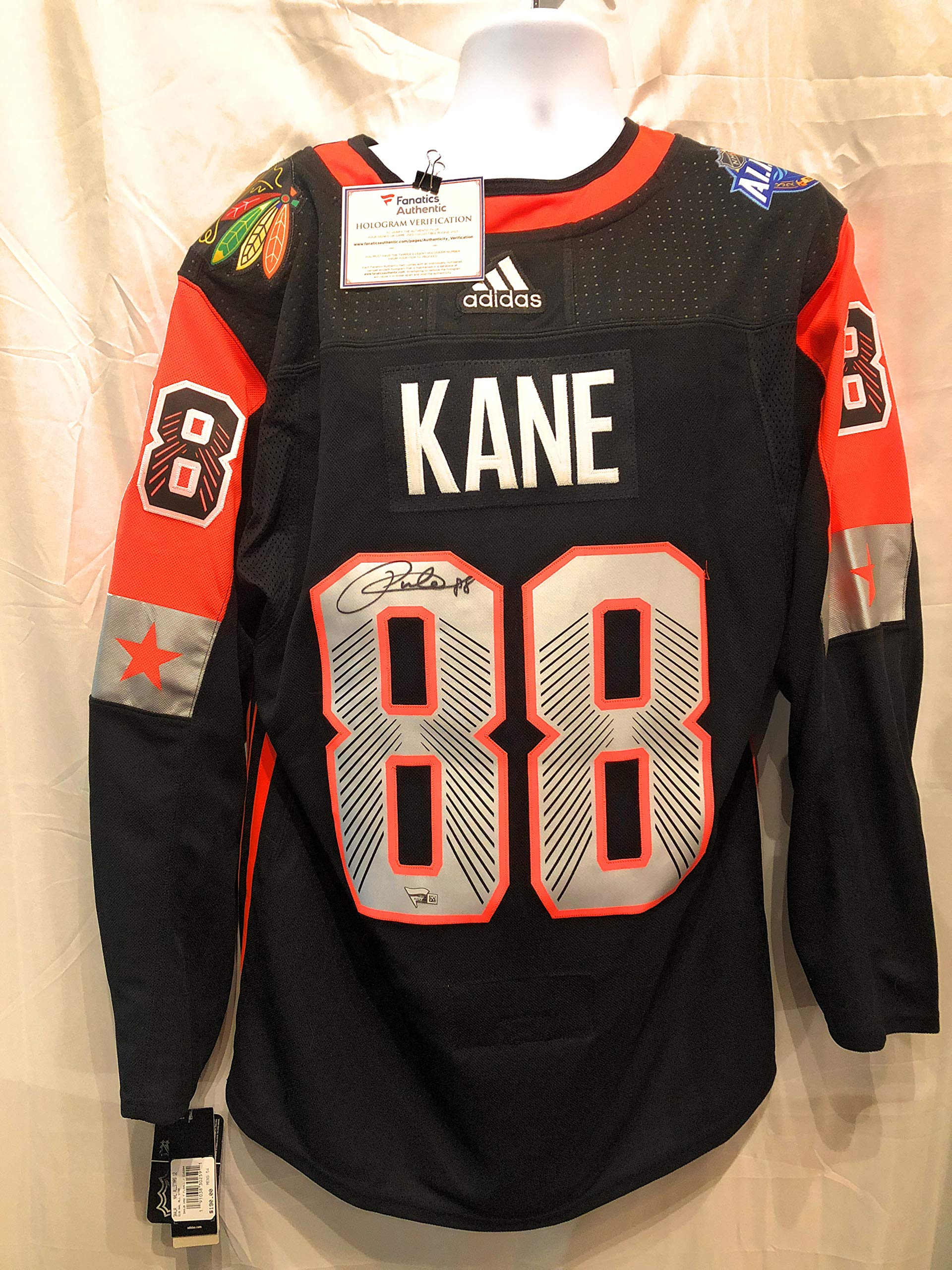 Patrick Kane Chicago Blackhawks Signed Autograph Authentic 2018 NHL All Star Game Jersey Fanatics Authentic Certified