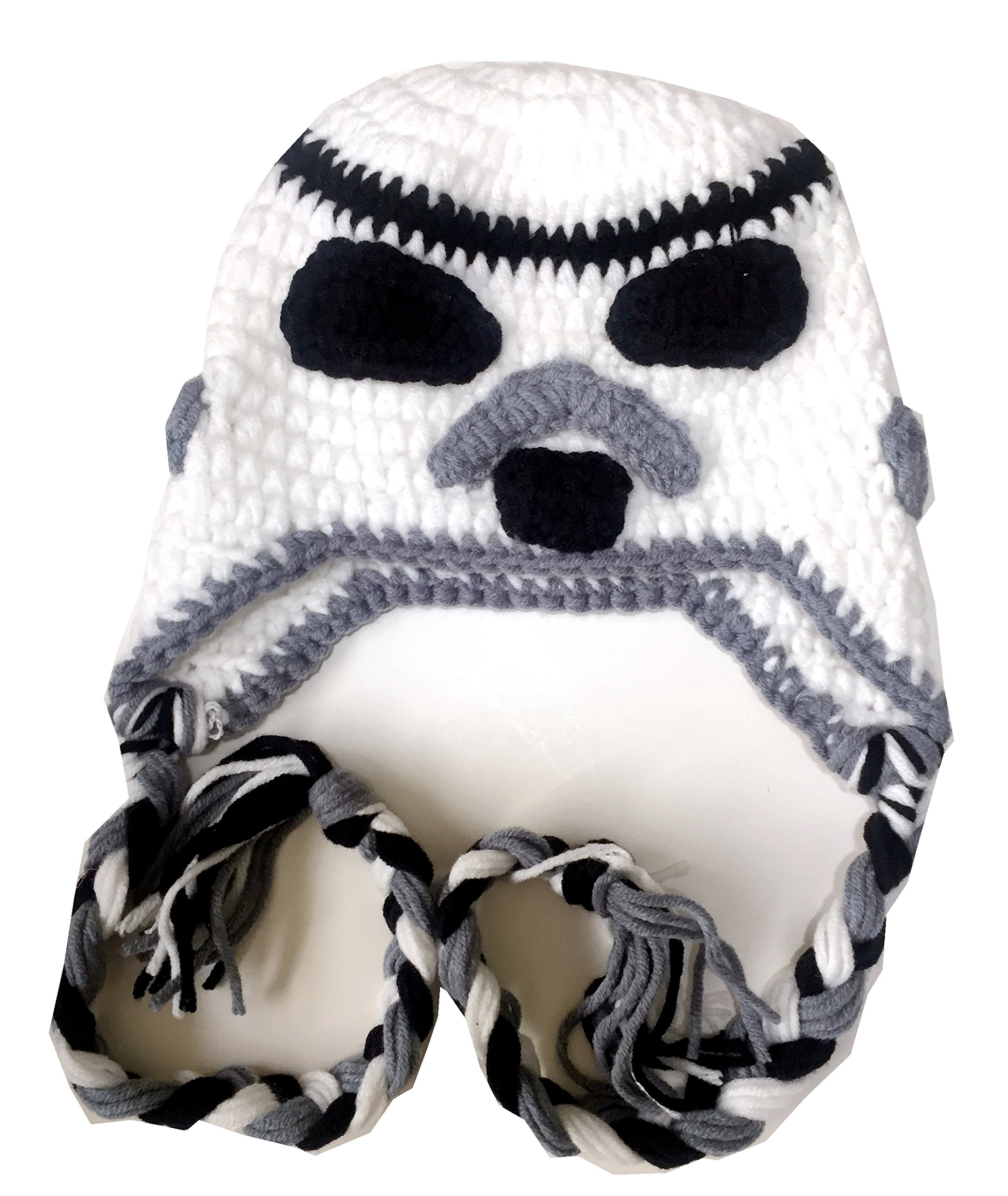 Milk protein cotton yarn handmade Stormtrooper hat - fits 3-12 month old baby