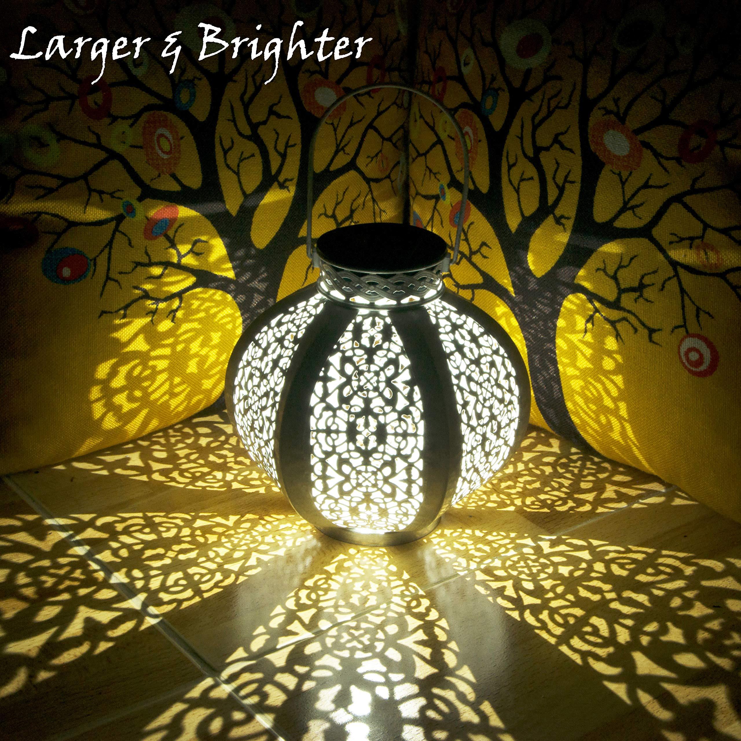 ArDeLi 26 Lumens Solar Lanterns Outdoor Hanging, Ancient Waterproof Solar Lantern Lights with Hanging for Outdoor Decorative Lights, Decoration Equipment, White