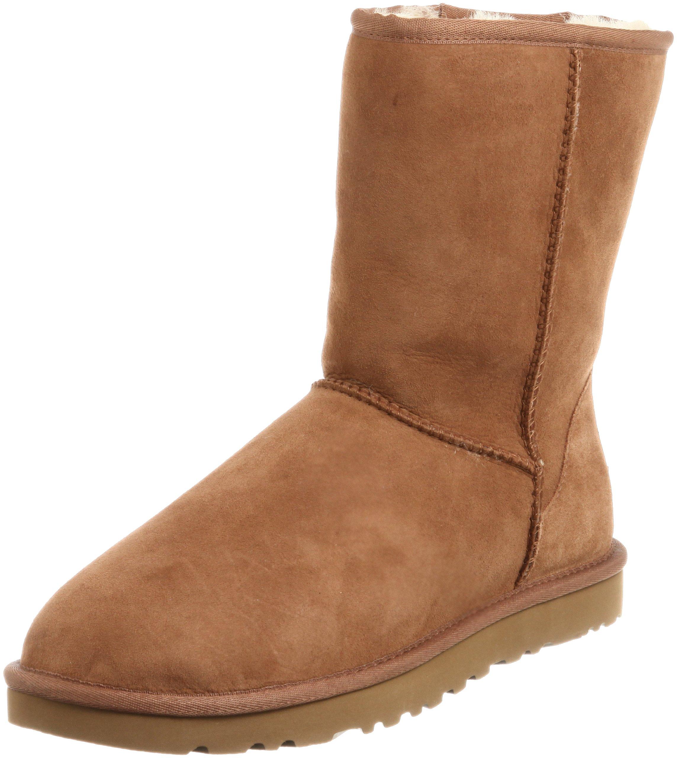 UGG Men's Classic Short Sheepskin Boots, Chestnut, 11 D(M) US by UGG