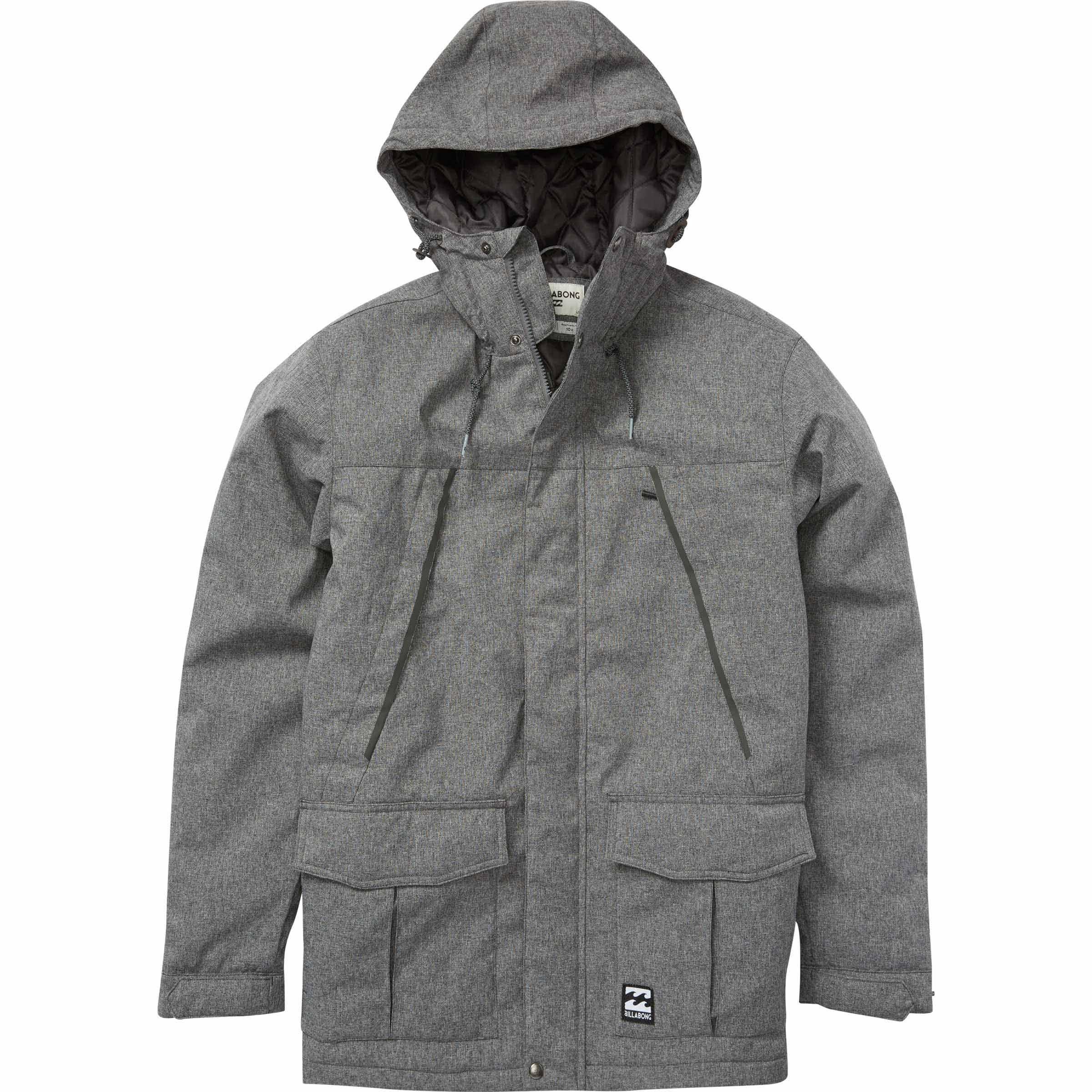 Billabong Men's Alves Jacket, Black Heather, L