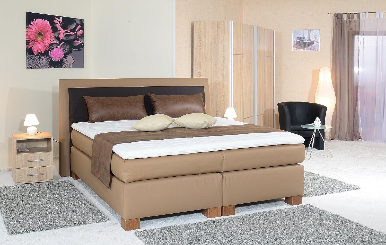 spenger Studio Cama con somier cama Ronja, bajo Suspensión de 7 zonas Núcleo de muelles ensacados, colchón de muelles (7 zonas, geltopper, H2, H3, H4, ...