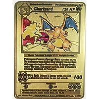 Gouden Mega Lucario GX Pokemon kaart glanzend EX op maat gemaakt metaal