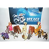 Ice Age: Collision Course Movie Deluxe Figure Set of 13 with Scrat, Sid, Granny, Diego, Manny and New Characters Brooke, Shangri-Llama and More!