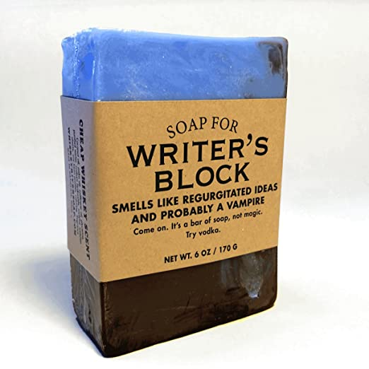Soap for Writer's Block - BEST SELLER! 6 oz Soap by Whiskey River Soap Co.