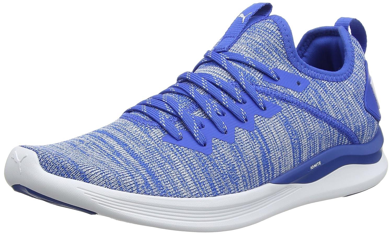 Puma Ignite Flash Evoknit, Zapatillas de Entrenamiento para Hombre 42.5 EU|Azul (Strong Blue-puma White 13)