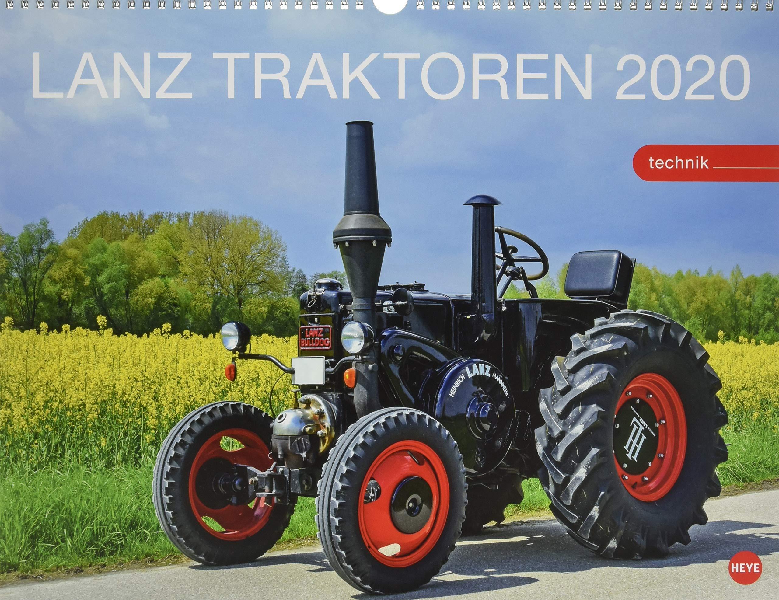 Starke Lanz Traktoren. Wandkalender 2020. Monatskalendarium. Spiralbindung. Format 44 x 34 cm