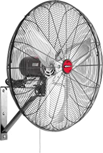 "OEM TOOLS OEMTOOLS OEM24883 24 Inch Oscillating Wall Mount Fan, 24"", Black"