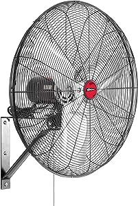 "OEM TOOLS OEMTOOLS OEM24883 24 Inch Oscillating Wall Mount Fan, 24"", Black"