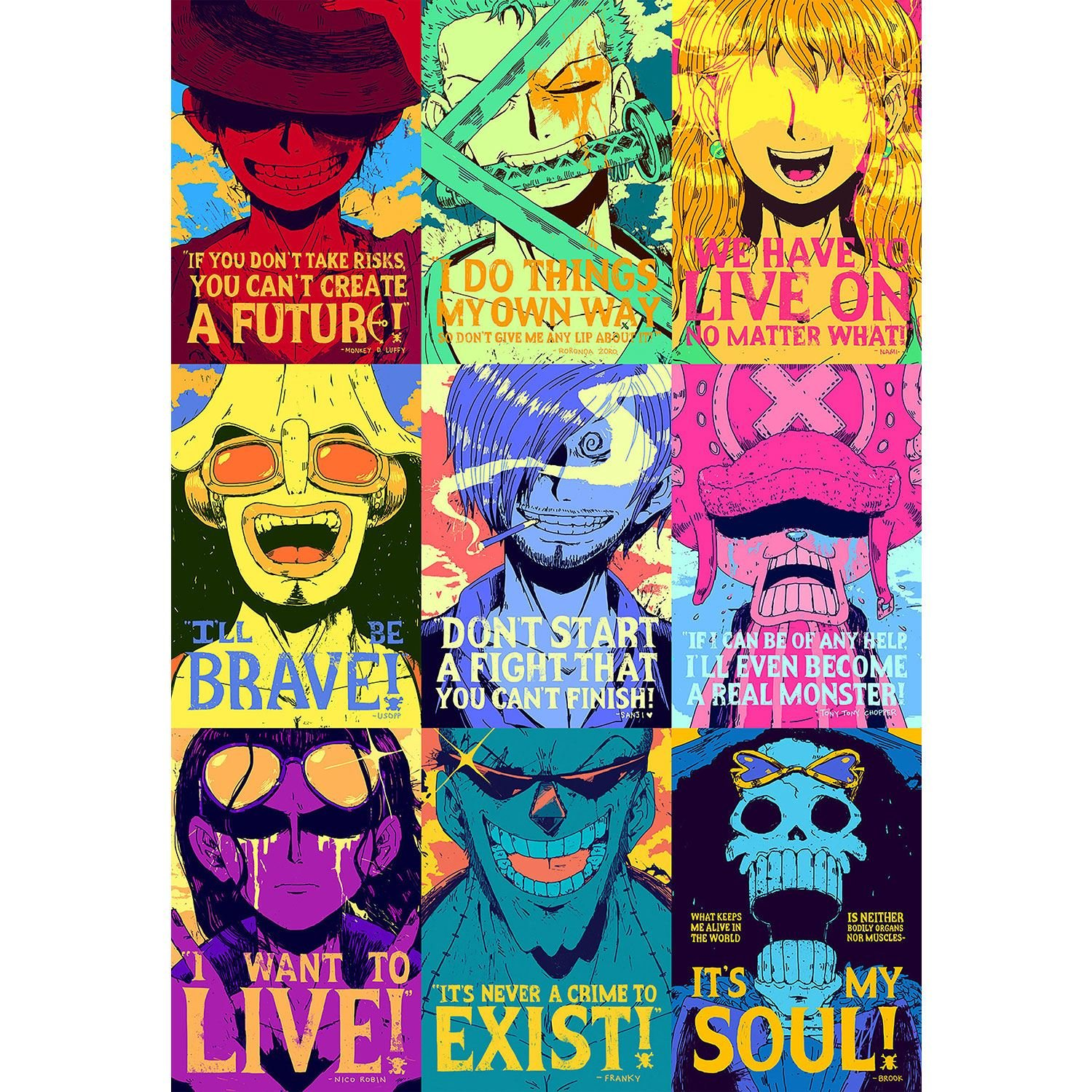 Fabulous Poster Cartel One Piece Pirata Portrais Arte Pop ...