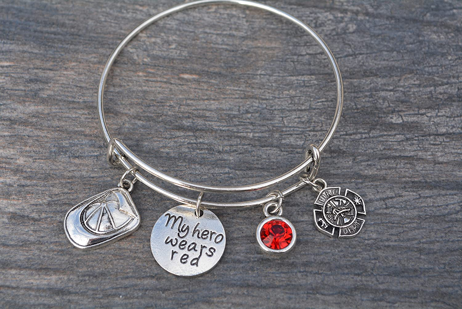 Fire Girlfriend Gift Thin Red Line,Dainty Firefighter Jewelry,Fireman Wife Gift,Red Line Bracelet,Fireman Mom Jewelry,Fireman Wife Jewelry
