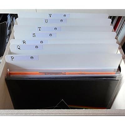 Pack de 26x 12cm blanco álbum de vinilo LP a–Z Record Shop estilo 800micras separadores