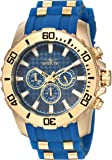 Invicta Men's 'Pro Diver' Quartz Stainless Steel and Silicone Casual Watch, Color:Two Tone (Model: 22556)