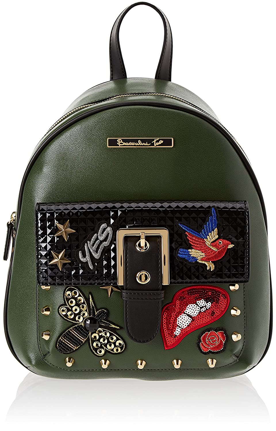 Rock, Womens Backpack Handbag, Green (Verde/Salvia), 15x30x25 cm (W x H L)