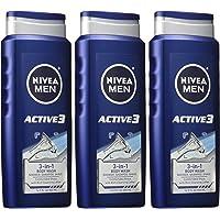 3-Pk. NIVEA Men Active3 3-in-1 Body Wash (16.9 fl. oz.)