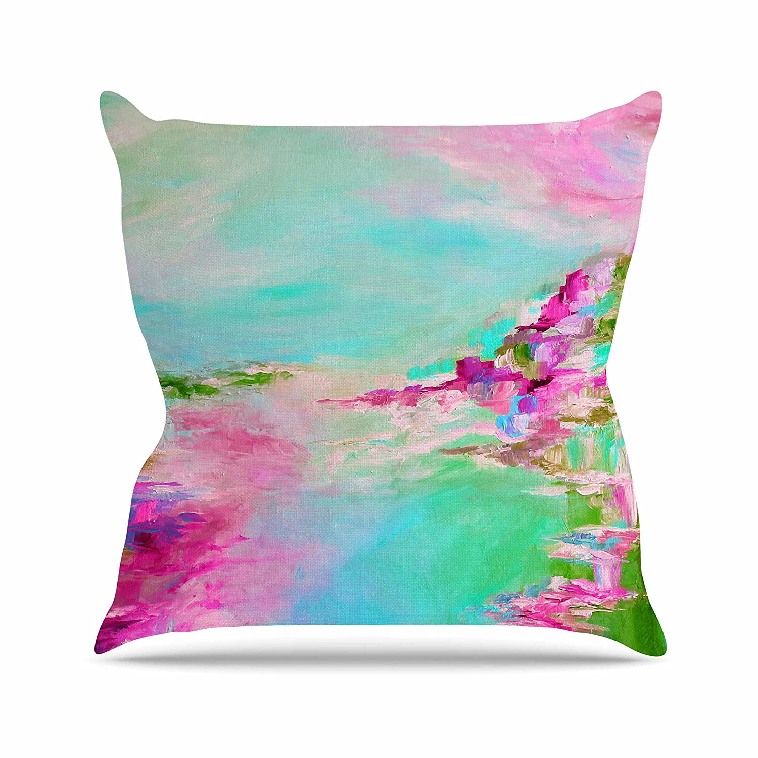 Kess InHouse EBI Emporium Something About The Sea 2 Teal Pink Throw Pillow 16 by 16