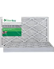 FilterBuy AFB Silver MERV 8 Pleated AC Furnace Air Filter, (Pack of 4 Filters), 100% produced in the USA