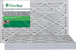 FilterBuy 14x25x1 MERV 8 Pleated AC Furnace Air Filter, (Pack of 4 Filters), 14x25x1 – Silver