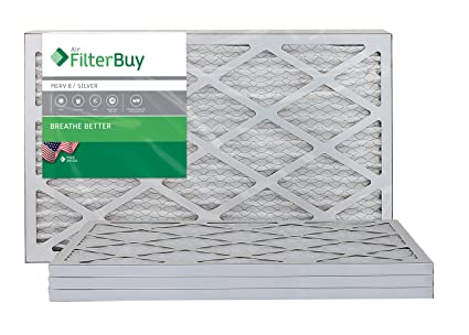 filterbuy afb merv 8 14x20x1 pleated ac furnace air filter, (pack of ...