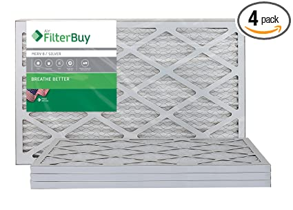 filterbuy 12x20x1 merv 8 pleated ac furnace air filter, (pack of 4 ...