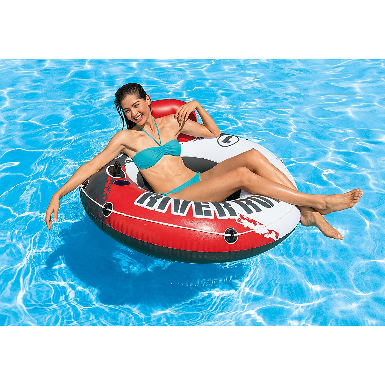Inflatable Water Float, 53″ Di...