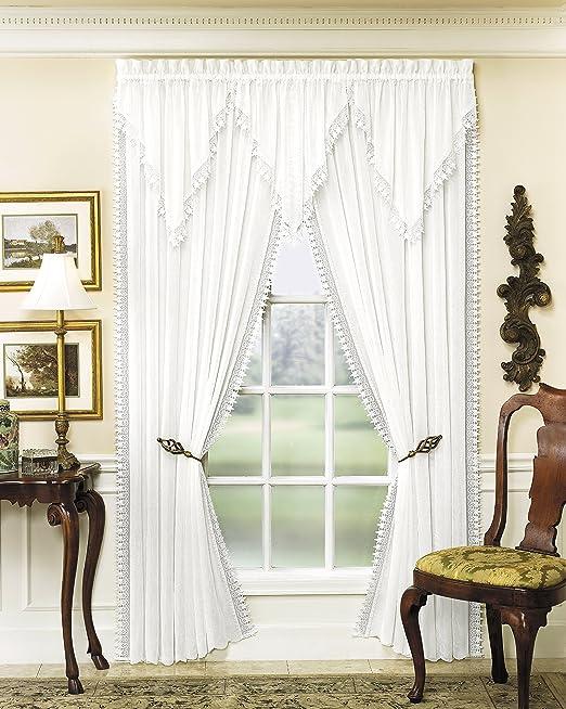 Ecru Todays Curtain Versailles Macrame Crushed Voile Ascot Window Curtain
