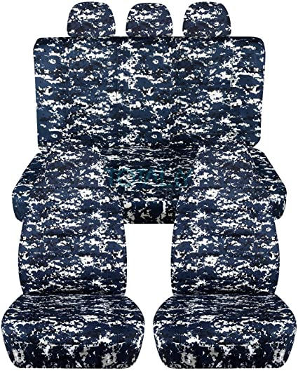 amazon com camouflage car seat covers w 3 rear headrest covers
