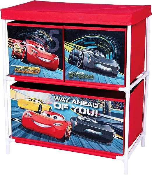 Disney Pixar, Cars 3 42663-S - Armario de Almacenamiento con 3 ...