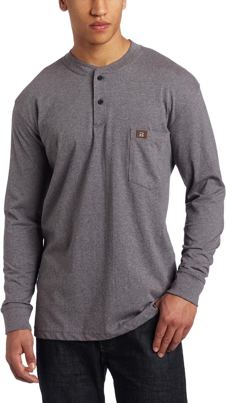 Wrangler Mens Long Sleeve Waffle Henley Henley Shirt