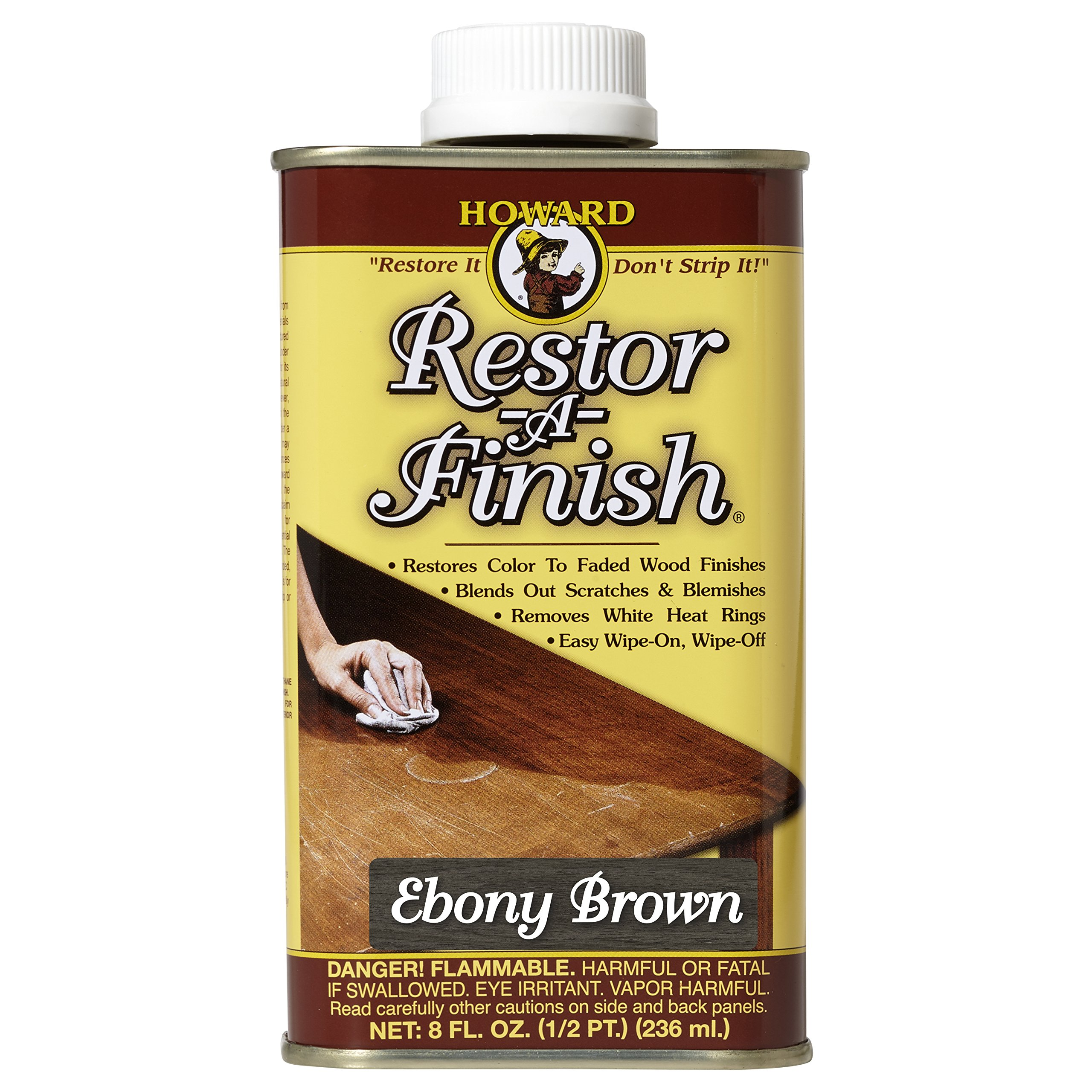 Howard Products RF8008 Restor-A-Finish, 8 oz, Ebony Brown
