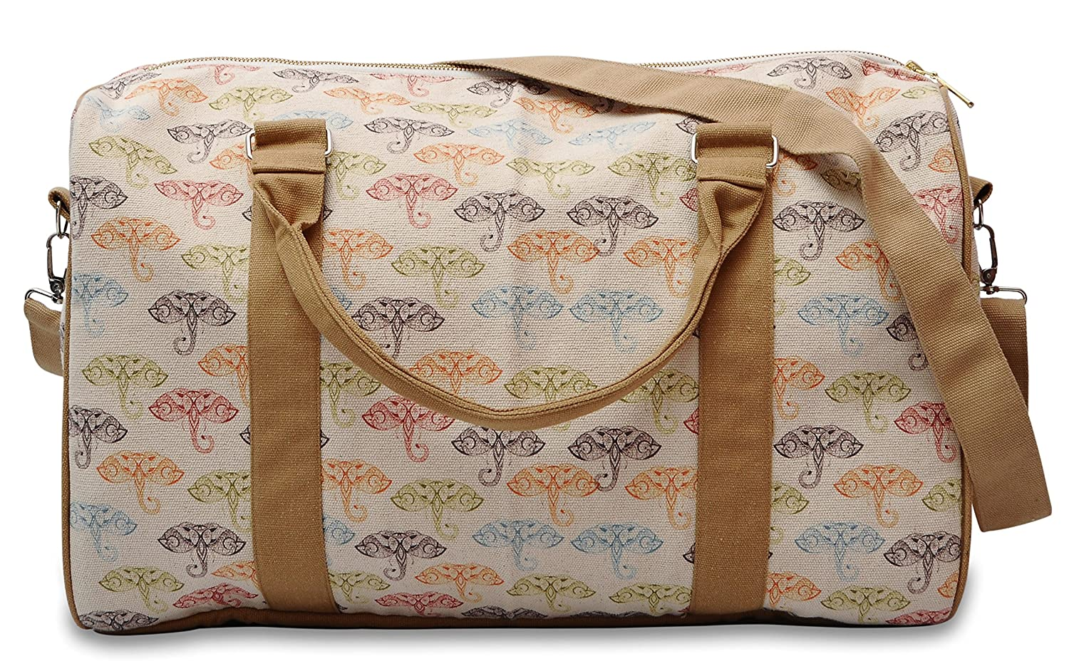 Elephant Abstract Printed Canvas Duffle Luggage Travel Bag WAS/_42