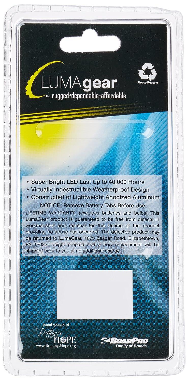 LumaGear LG2993 Silver Aluminum 1-LED Flashlight with Clip