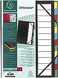 Exacompta - Réf 55341E - Un Trieur Harmonika avec Dos Extensible Ordonator 12 Compartiments en Couverture Rigide Balacron 23,5x33 cm Noir