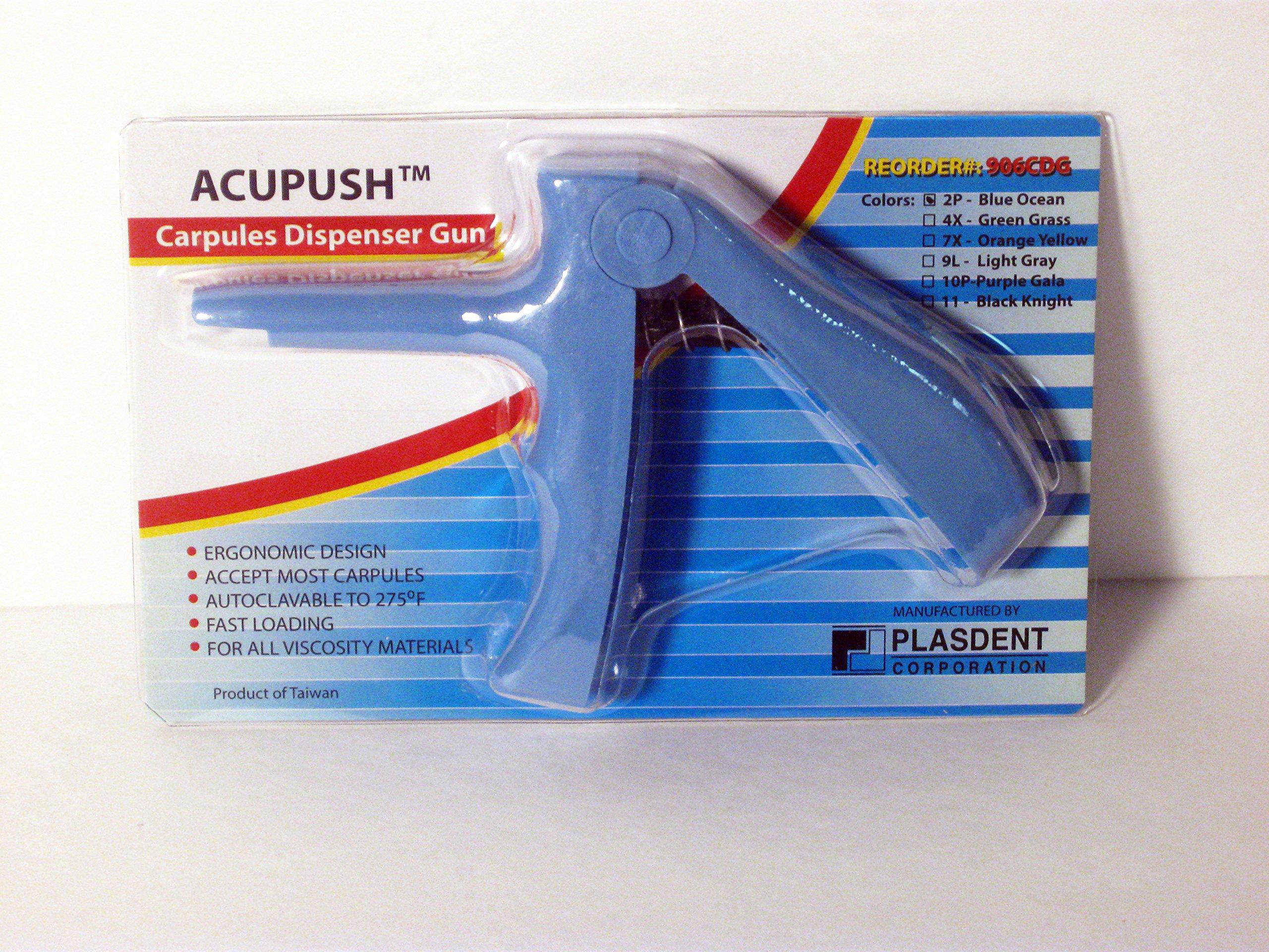 Plasdent 906CDG-2P Acupush - Carpule Dispensing Gun Blue Ocean in Color 1/pk