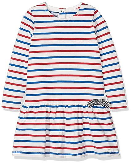 39eb8e6b76c Petit Bateau Robe ML Robe Bébé Fille Blanc (Marshmallow Perse Terkuit) 1