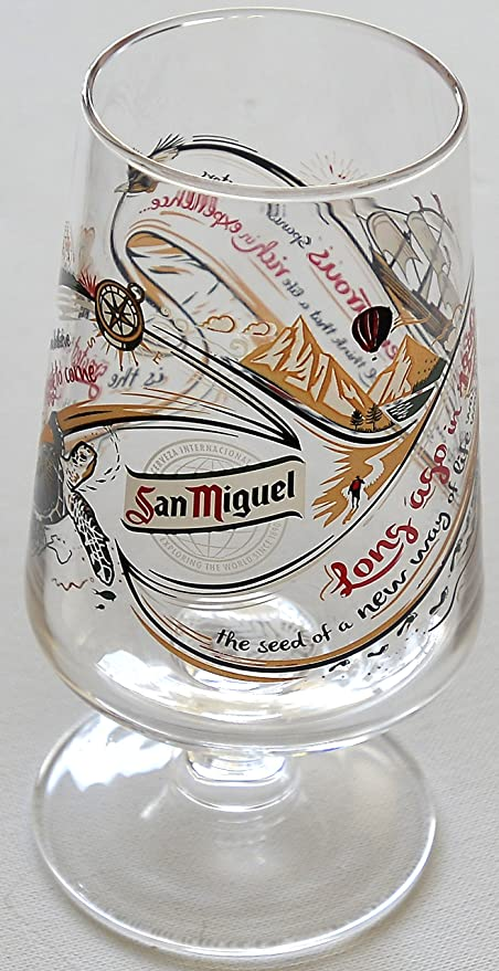 San Miguel One Pint Chalice Glass LIMITED RELEASE 2017