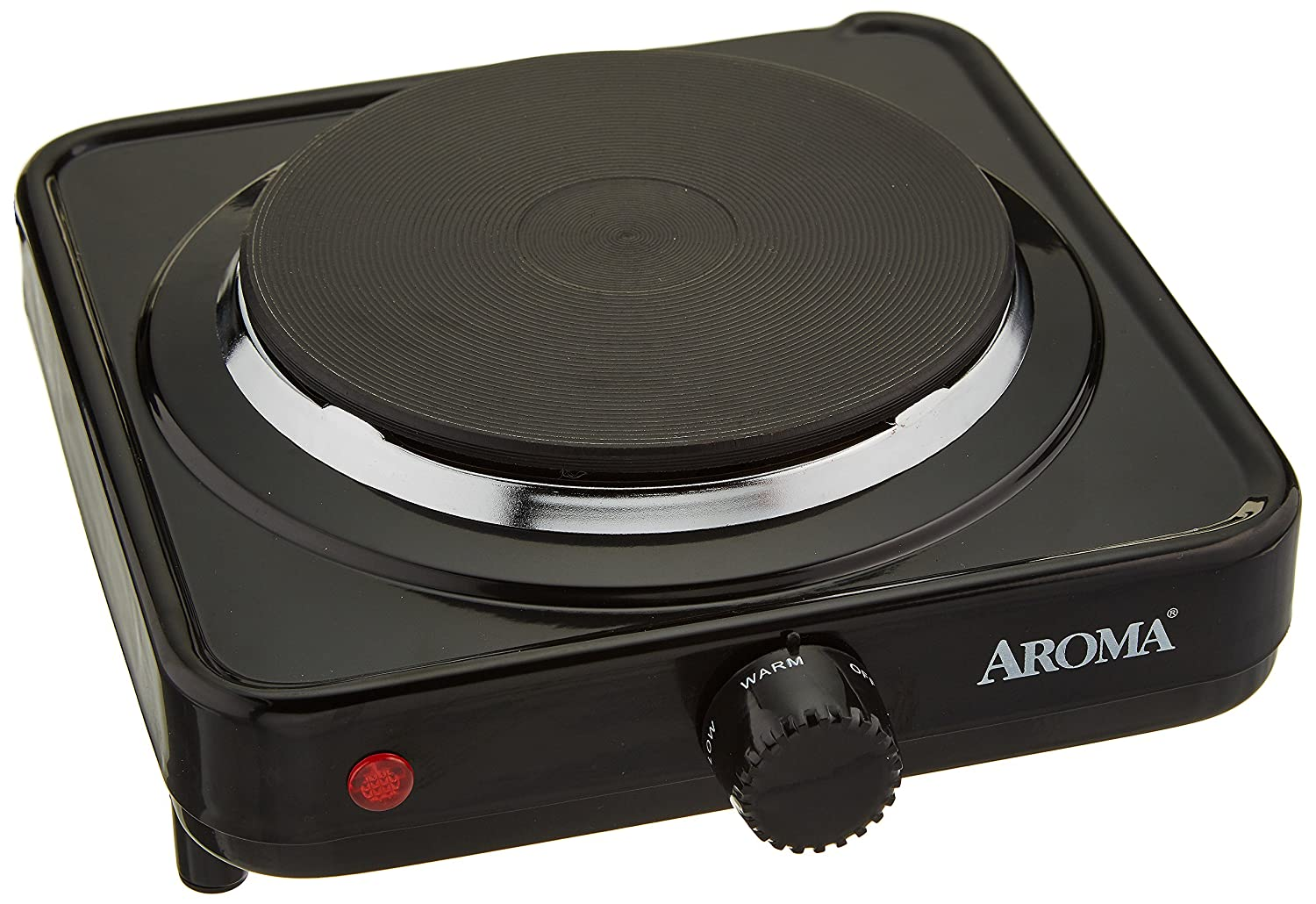 Aroma Housewares AHP-303/CHP-303 Single Hot Plate, Black