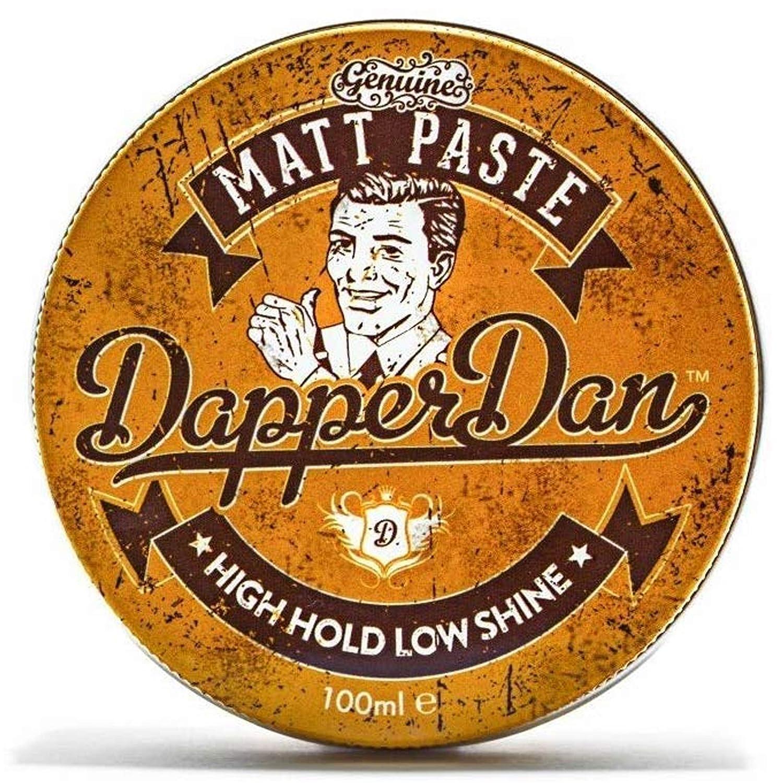 Dapper Dan Matt Paste Men's Matte Wax Hair Styling Product | Strong Hold Hair Wax Products For Men For Strong Hold | Scented With Dapper Dan's Mens Fragrance | 100ml
