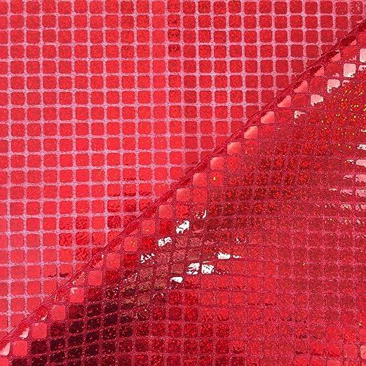 Discover Direct Rojo Lentejuelas en Holograma Cuadrado Americano ...