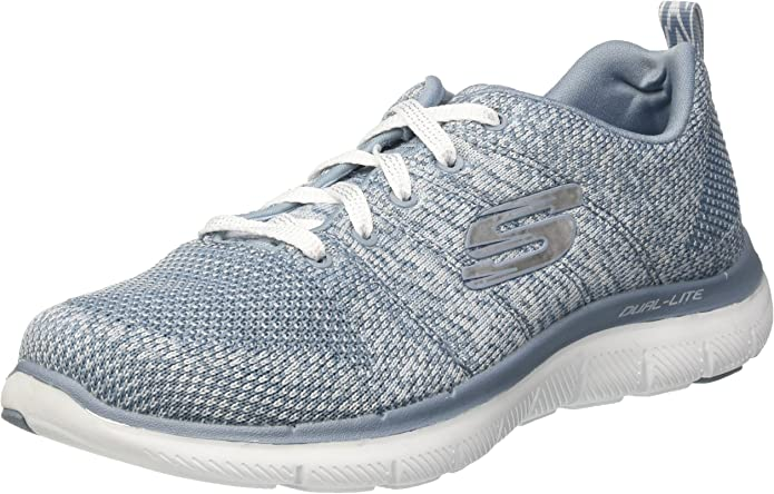 Skechers Flex Appeal 2.0 High Energy Sneakers Damen Blaugrau