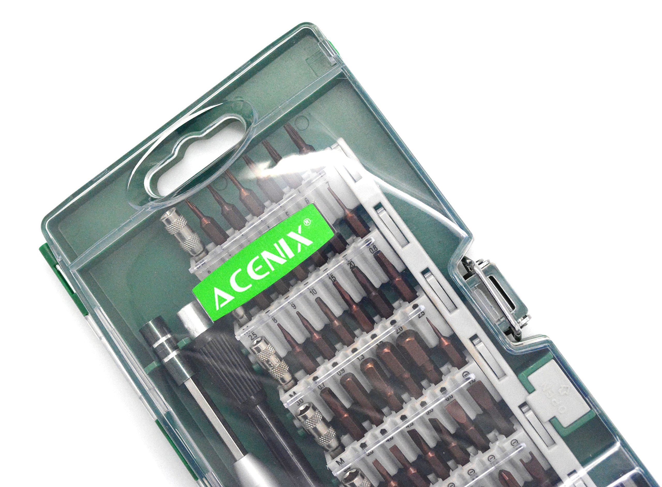 ACENIX New 60 Pcs Professional Tools Set Screwdriver Set Repair Tool Kit Fix iPhone Samsung Laptop Smartphone MacBook Xbox Electronics Torx Diver Set Ipad Tablet Cameras Electronic Toys by ACENIX® (Image #4)