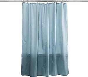 Splash Home Fabric Shower Curtain Liner, Powder Blue