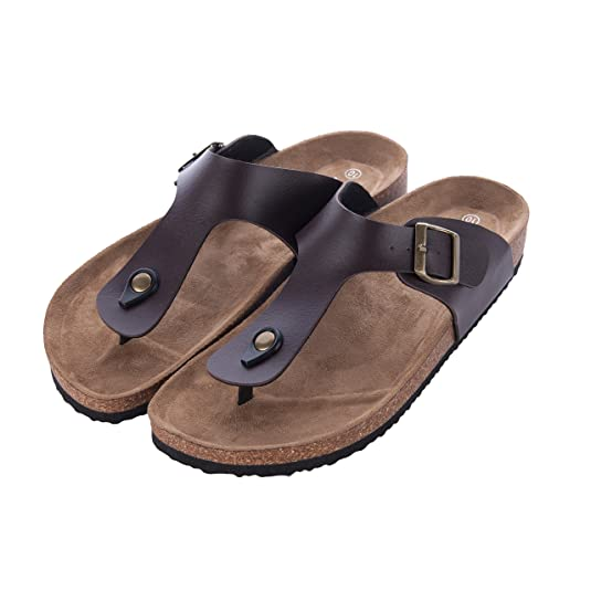 a3ff01aa46cdf4 WTW Men s Gizeh Thong Footbed Flat Flip-Flops Cork Sandals  Amazon.com.au   Fashion