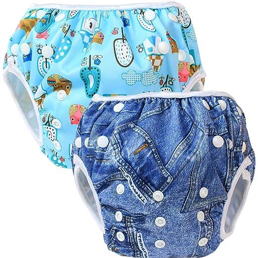 48 opinioni per Teamoy 2pcs Baby Nappy riutilizzabile pannolino da nuoto, Denim+ Comfortable