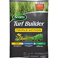 Scotts Turf Builder Triple Action, 50 lb, Feeds and Fertilizes to Build Thick Green Lawns