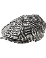 Peaky Blinders 8 Piece 'Newsboy' Style Flat Cap -100% Wool