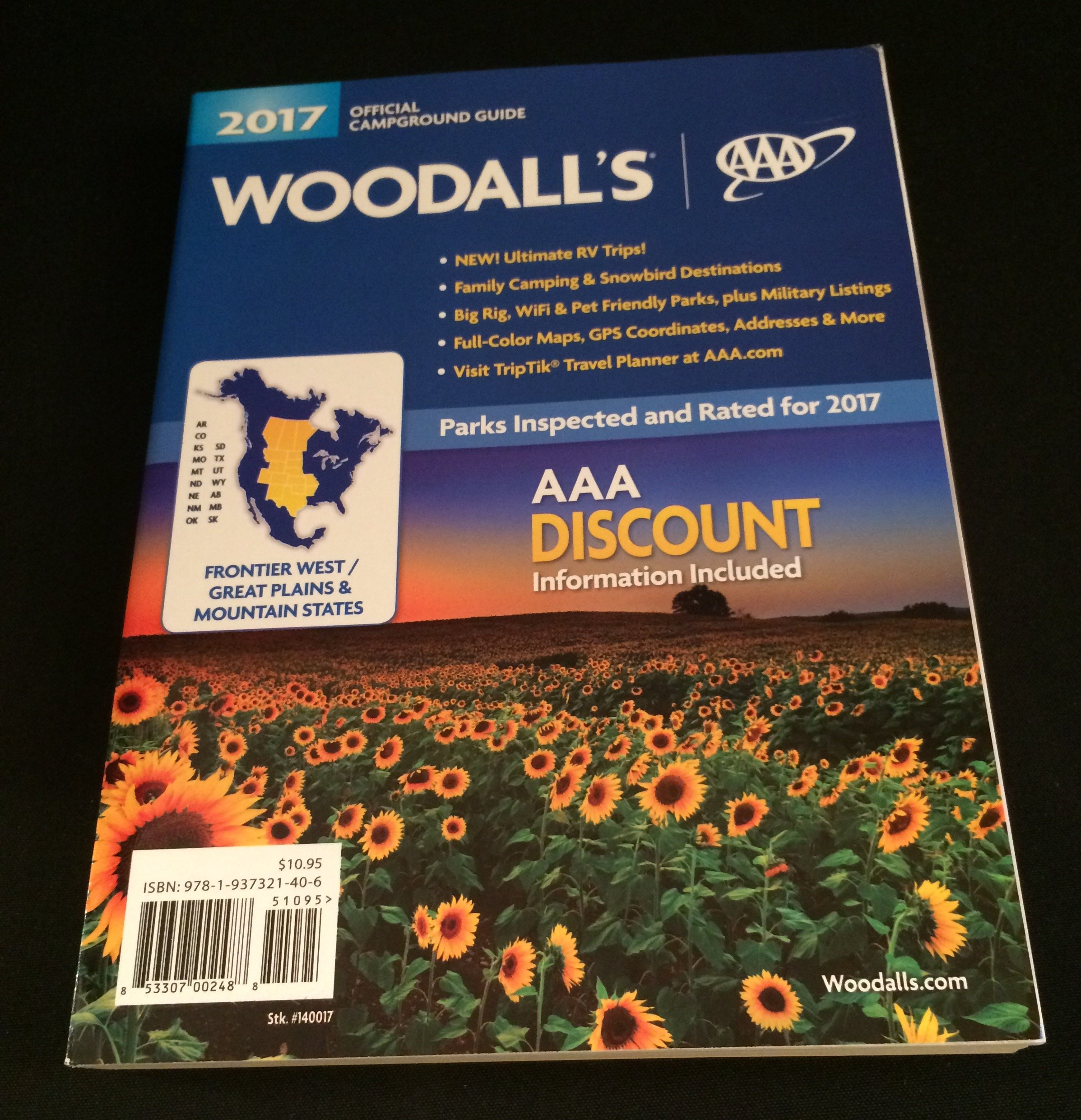 Woodall's 2017 Official Campground Guide Frontier West/Great