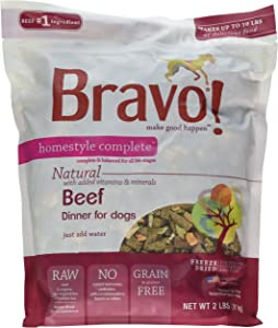 Bravo Homestyle Freeze Dried Dinner Beef Food, 2 Lb.